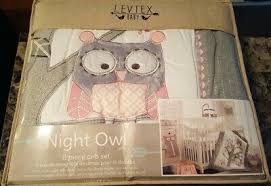 Levtex Baby Night Owl Pink 5 Pc Crib Bedding Set Quilt Sheet Ruffle New 109 99 Picclick