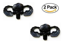Metal Decal Sticker Freedom Punisher For Magwell Color Matte Black 2 Pack For Sale Online