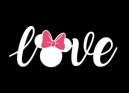 Minnie Mouse Pink Bow Word Love Car Vinyl Decal T Shirt Etsy