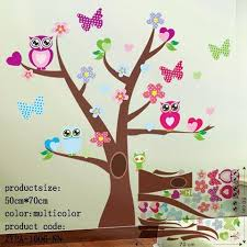 Owl Wall Stickers For Kids Room Decals Home Decor Craft