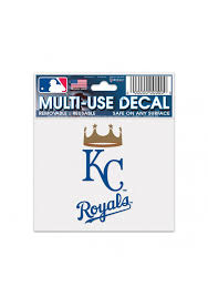 Kansas City Royals 3x4 Multi Use Auto Decal Blue 5715459