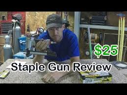 Harbor Freight Staple Gun Review Central Pneumatic 68029 Youtube