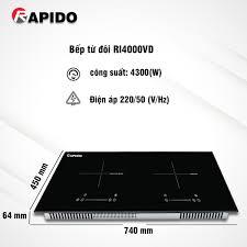 Bếp từ đôi RI4000VD - Rapido.vn
