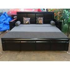 black teak wood king size bed warranty