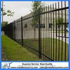 China Security Ornamental Used Wrought Iron Fence Panel China Steel Fence Powder Coated Steel Fence
