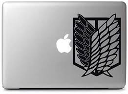 4 Vinyl Sticker Attack On Titan Wings Of Freedom Anime Decal Laptop Car Window