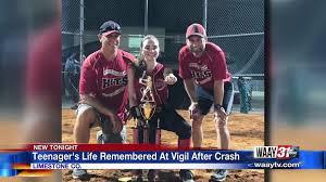 Vigil held for deadly crash victim