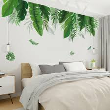 Greenery Leaves Plant Wall Sticker Living Room Bedroom Home Decal Decor For Sale Online Ebay