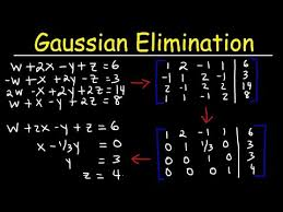 gaussian elimination with 4 variables