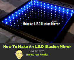 make an infinity table mirror illusion