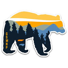 Great Smoky Mountains National Park Sticker Merica Clothing Co