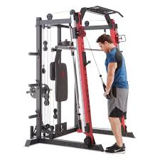 Marcy Smith Machine / Cage System + Pull-Up Bar & Landmine Station | SM-4033