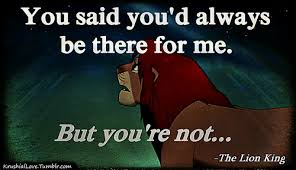 you said you d always be there for me family quote