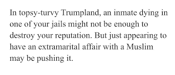 """Melissa Segers on Twitter: """"Great article. Interesting what Trumpers  consider pushing it. This speaks volumes on Trumpers perception of  right/wrong. The death/possibly the murder of a jail inmate is less  important than"""