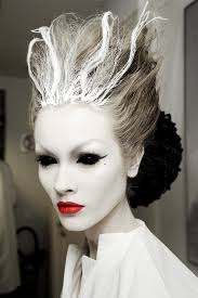 ghostly bride fashion show hair makeup