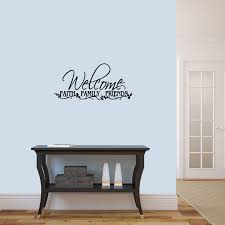 Welcome Faith Family Friends Entryway Wall Decal