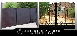Wrought Iron Gates Phoenix Driveway Garden Courtyard Artistic Alloys