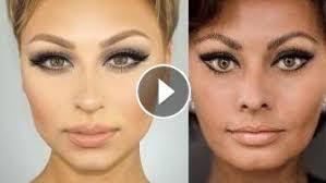 sophia loren cat eye makeup tutorial