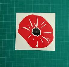 Remembrance Day Poppy Vinyl Decal Sticker Car Van Wall Laptop Tablet Window 10cm Ebay