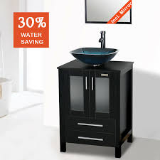 bathroom vanity combo 24 inch black
