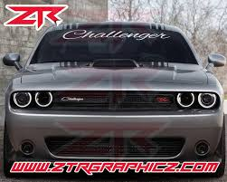 Custom Dodge Challenger Script Windshield Decal Ztr Graphicz