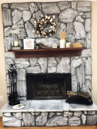 i graywashed my fireplace from brown