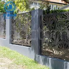 China Residential Outdoor Decorative Metal Fence Panels China Laser Cutting Fence And Metal Privacy Fence Price