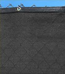 Amazon Com Strong And Durable Privacy Fence Screen Mesh Shade Cloth W Grommets 8 X 50 90 Blockage Black Garden Outdoor