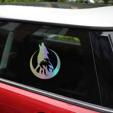 Tancredy Howling Wolf Moon Car Stickers And Decals Car Bumper Stickers Car Styling Decoration Door Body Window Vinyl Stickers Car Stickers Aliexpress