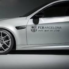 Fc Football Car Sticker Waterproof For Barcelona Black White Car Styling Car Stickers Aliexpress