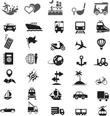 travel icons free vector free