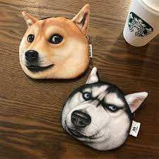 2018 new 3d cat dog face coin purse