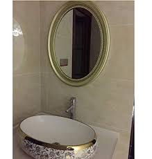 57cm mirror bathroom wall mounted oval