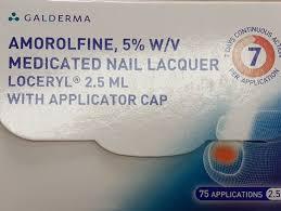 amorolfine 5 w v cated nail