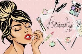 cartoon makeup brush photos royalty