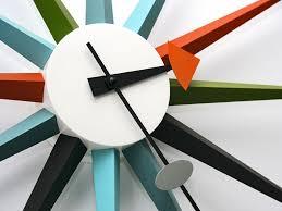 vitra sunburst wall clock by george