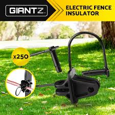 Giantz 250x Electric Fence Insulators Insulator Pinlock Energiser Insulation 9350062026199 Ebay