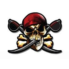 Pirate Skull Crossbones Vinyl Sticker Waterproof Decal Sticker 5 Walmart Com Walmart Com