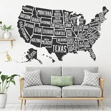 Usa Map Wall Decal Kuarki Lifestyle Solutions