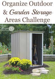 organize outdoor garden storage areas