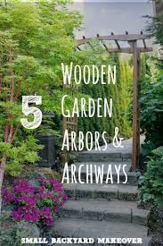 wooden garden arbors and arches march