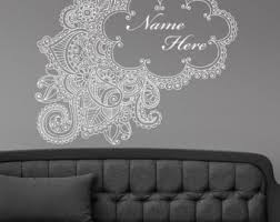 Henna Wall Decal Etsy