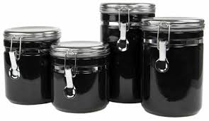 glass canister set with lids