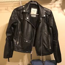 abercrombie fitch vegan leather jacket