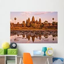 Angkor Wat Temple Sunset Wall Decal Wallmonkeys Com