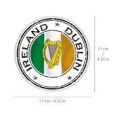 Ireland Dublin Sticker Irish Flag Vinyl Decal For Car Bike Travel Bag Laptop Ebay