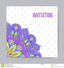 Invitacion Con La Mandala Multicolora Ilustracion Del Vector