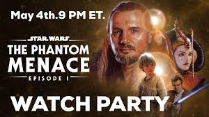 """The ForceCast on Twitter: """"Join us over on Facebook on #MayThe4th for a  Phantom Menace watch party! 9 PM ET. https://t.co/Mwsduw5A1E… """""""