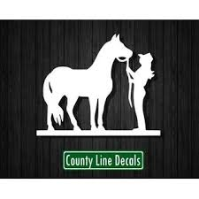 County Line Decals Horse And Girl Disney Vinyl Decal Die Cut Sticker For Car Or Laptop Cute Rodeo
