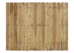 6 X 8 Cedar Dog Ear Fence Panel At Menards